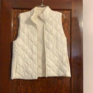 White loft vest